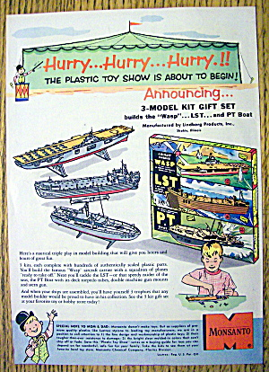 1950's Monsanto Model Kit with Boats (Image1)