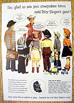 1950's Roy Rogers Gear With Roy Rogers & Children