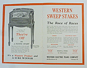 1932 Western Electric Piano With Western Sweep Stakes
