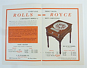 1932 A.M. Walzer Company with Rolls Royce Roulette Game (Image1)