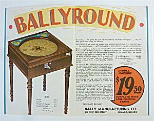 1932 Bally Manufacturing Company with Bally Round Game (Image1)