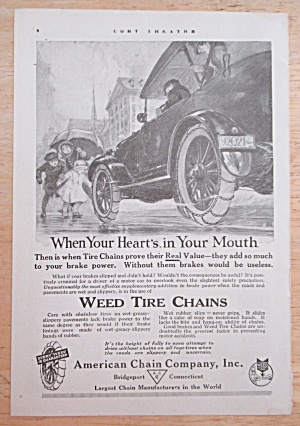 1919 Weed Tire Chains With Car Braking
