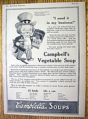1918 Campbell's Vegetable Soup with Kid Uncle Sam (Image1)