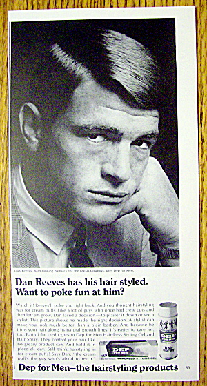 1968 Dep For Men With Dallas Cowboys' Dan Reeves