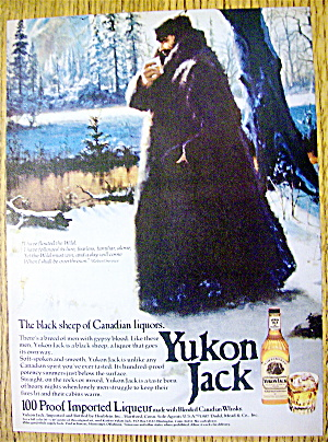 1975 Yukon Jack Whiskey With Man Holding Glass