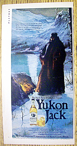 1980 Yukon Jack Canadian Whiskey With Black Sheep