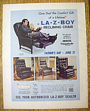 1970 La-z-boy Reclining Chair With Man & Little Girl