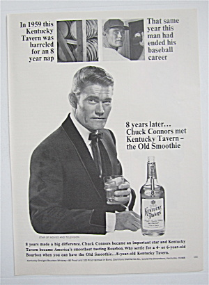 1967 Kentucky Tavern Whiskey With Chuck Connors