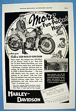 1937 Harley Davidson with the 1938 Motorcycle (Image1)