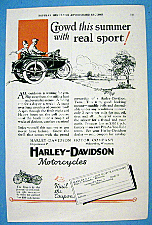 1927 Harley Davidson with Side Car with Man & Woman (Image1)