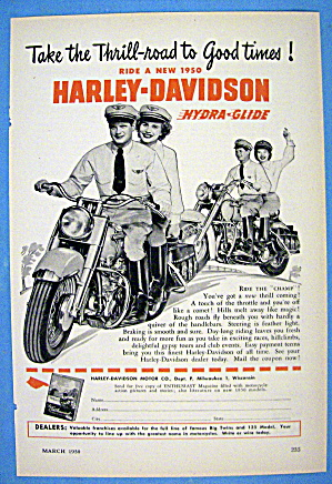 1950 Harley Davidson Hydra Glide With 2 Couples