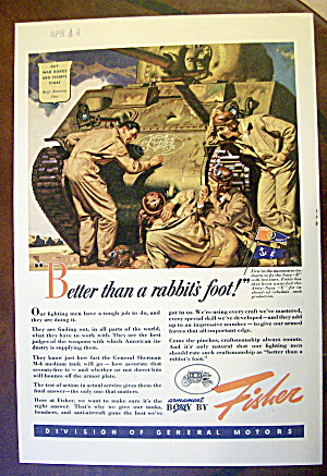 1943 Body by Fisher with 3 Soldiers by Tank (Image1)