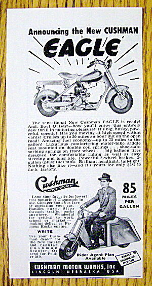 1950 Cushman Eagle With Man Driving