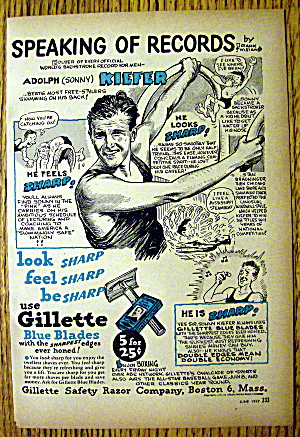 1947 Gillette Blades with Adolph Sonny Kiefer (Image1)