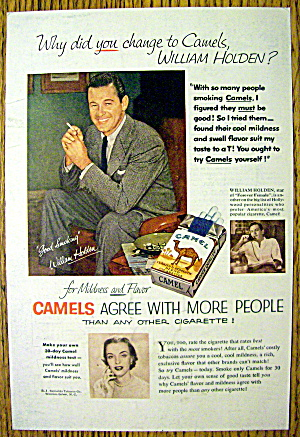 1954 Camel Cigarettes With William Holden