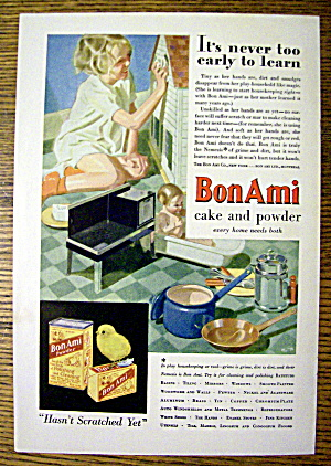 1931 Bon Ami with Girl Cleaning Doll House (Image1)