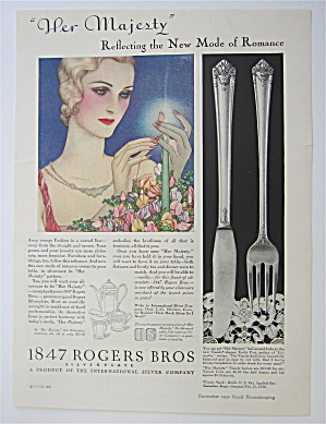 1931 1847 Rogers Bros. with Woman Lighting Candle (Image1)