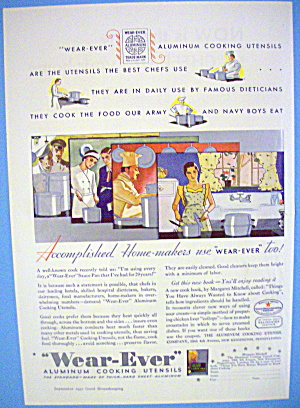 1938 Wear-ever Aluminum With People Cooking
