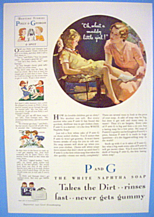 1938 P & G White Soap with Woman & Muddy Girl (Image1)