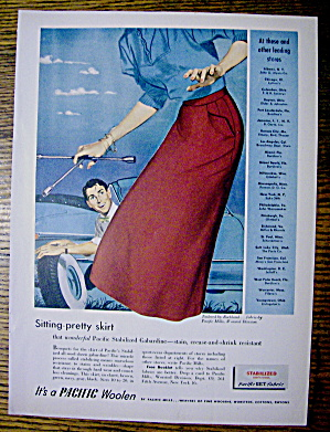 1951 Pacific Woolen with Woman Holding Tire Iron (Image1)