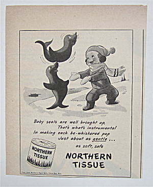 1944 Northern Tissue with Boy & Baby Seals  (Image1)