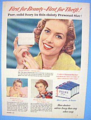 1951 Ivory Soap With Women & A Baby