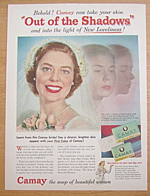 1952 Camay Soap With Lovely Bride