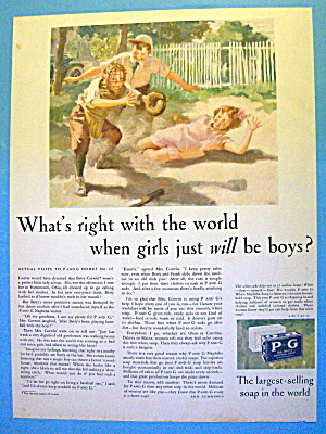 1931 P & G White Soap with Girl Sliding (Image1)