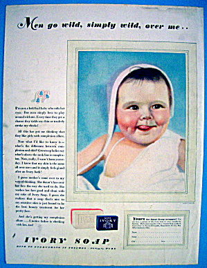 1938 Ivory Soap With Baby Smiling