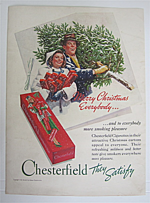 1938 Chesterfield Cigarettes w/Man & Woman Walking  (Image1)
