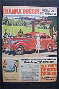 1938 De Soto With Deanna Durbin