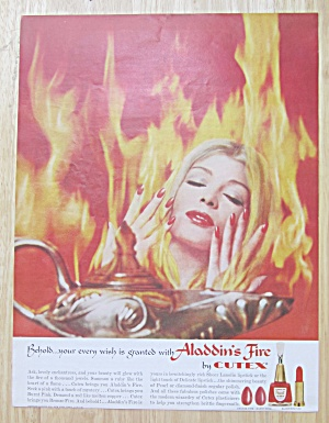 1961 Cutex Aladdin's Fire with Lovely Woman in Flames  (Image1)