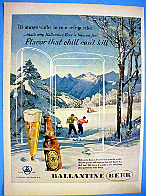 1953 Ballantine Beer with People Watching Deers (Image1)