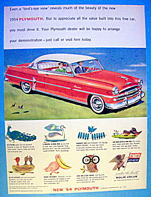 1954 Plymouth With A Bird's Eye View Of A Plymouth