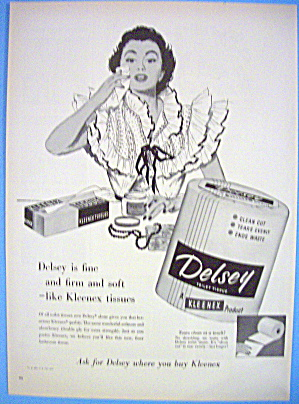 1954 Delsey Tissue with Woman Wiping Face (Image1)