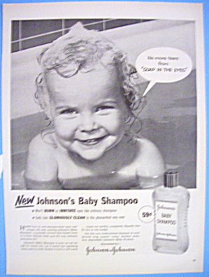1954 Johnson's Baby Shampoo with Baby Smiling (Image1)
