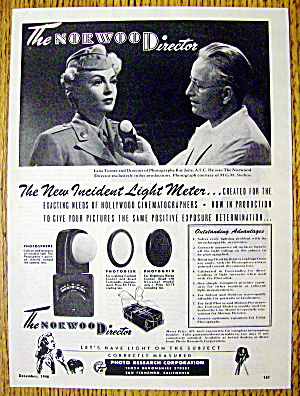 1946 Norwood Director Light Meter with Lana Turner (Image1)