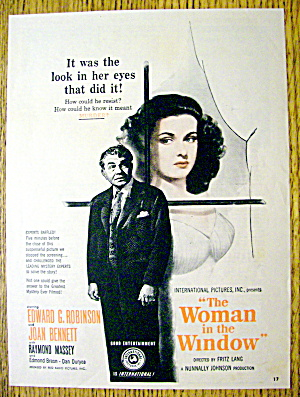 1944 The Woman In The Window With Edward G Robinson