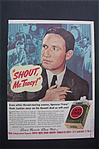 1938 Lucky Strike Cigarettes With Spencer Tracy
