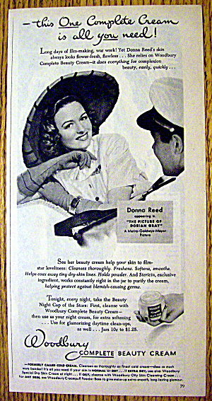 1944 Woodbury Cream With Donna Reed