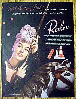 1944 Revlon Pink Garter with Lovely Woman (Image1)