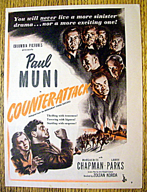 1945 Counter-attack With Paul Muni