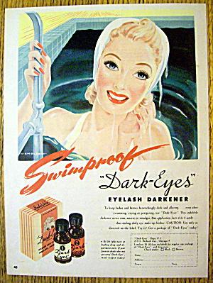 1945 Dark Eyes Eyelash with Lovely Woman In Pool (Image1)