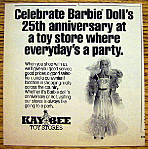 1984 Barbie With Barbie Doll (25th Anniversary)