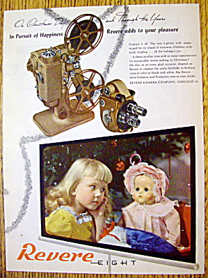 1946 Revere Eight Projector with Little Girl & Her Doll (Image1)