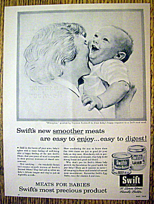 1956 Swift's Meats with Mom & Baby by Norman Rockwell (Image1)