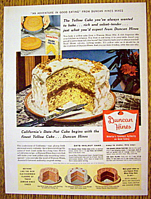 1957 Duncan Hines Cake Mix with Yellow Date Nut Cake (Image1)