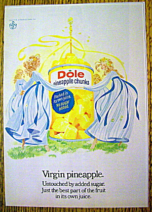 1973 Dole Pineapple Chunks With Virgin Pineapple