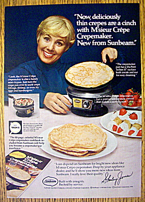 1977 Sunbeam Crepemaker With Shirley Jones