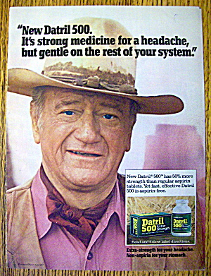 1977 Datril 500 Extra Strength With John Wayne-the Duke